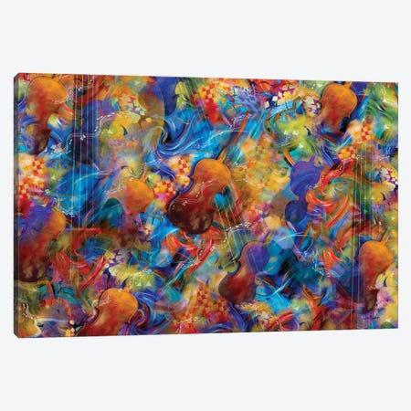Stings And Things Violins Canvas Print #JLZ47} by Juleez Canvas Art Print