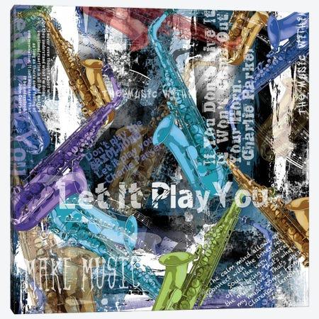 Saxophone Musician Quotes Canvas Print #JLZ54} by Juleez Canvas Art