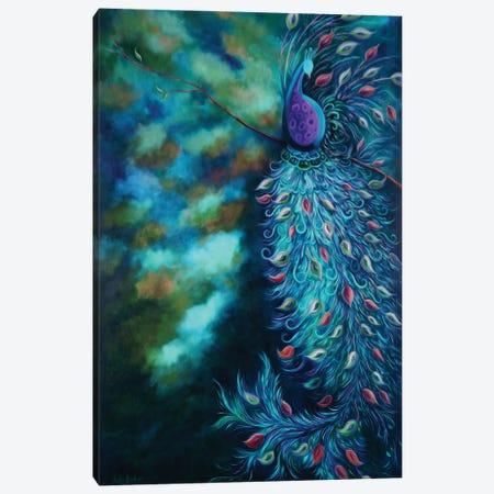 Peacock Garden Teal Canvas Print #JLZ56} by Juleez Canvas Artwork