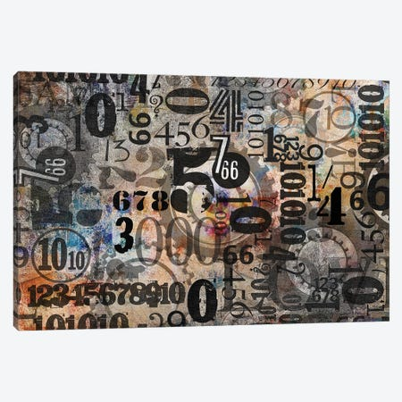 Numbers Canvas Print #JLZ58} by Juleez Art Print