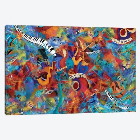 Music Trio With Horn Canvas Print #JLZ9} by Juleez Canvas Artwork