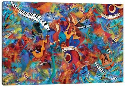 Music Trio With Horn Canvas Art Print