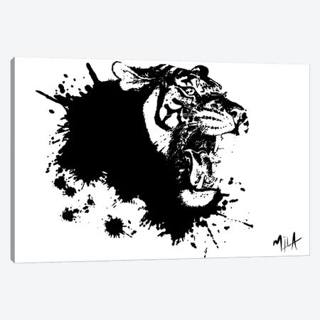 Tiger Splash, Canvas Canvas Print #JMB10} by Julie Mila-Bouffard Canvas Artwork