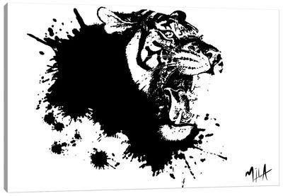 Tiger Splash, Canvas Canvas Art Print