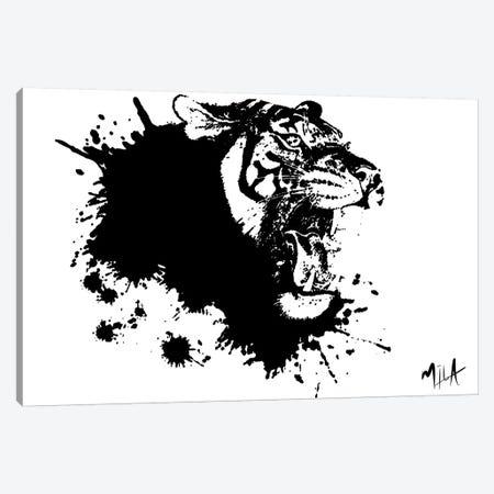 Tiger Splash, Canvas Canvas Print #JMB10} by Julie Mila-Bouffard Canvas Artwork