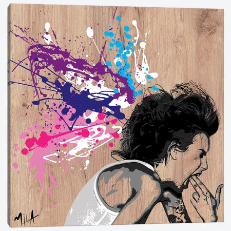 Xploding Brain, Wood Canvas Print #JMB13} by Julie Mila-Bouffard Canvas Art