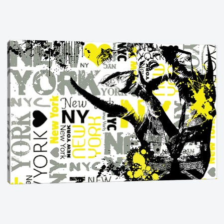NYC Canvas Print #JMB15} by Julie Mila-Bouffard Canvas Art Print
