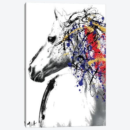 Trojan Horse Canvas Print #JMB18} by Julie-Mila Bouffard Canvas Wall Art