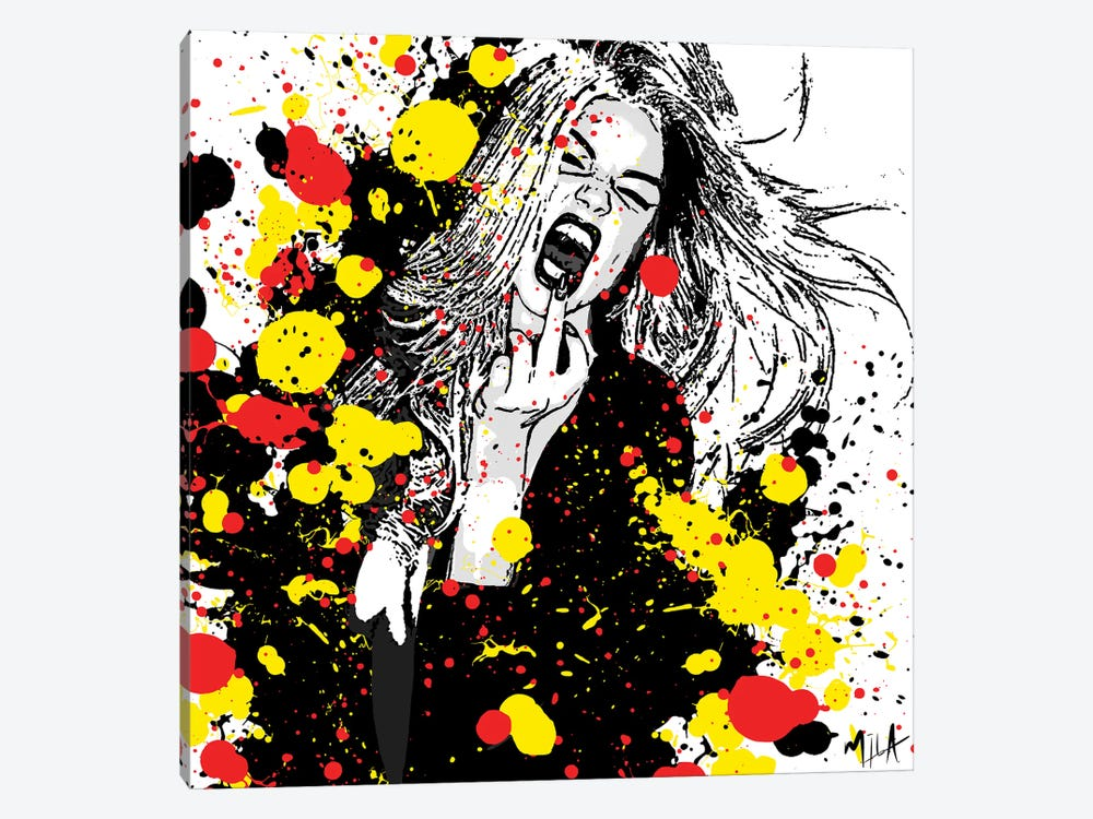 Fuck That Shit by Julie Mila-Bouffard 1-piece Canvas Art Print