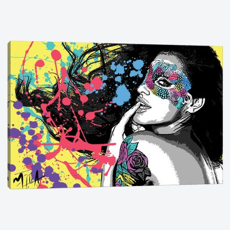 Masquerade Canvas Print #JMB20} by Julie Mila-Bouffard Canvas Print