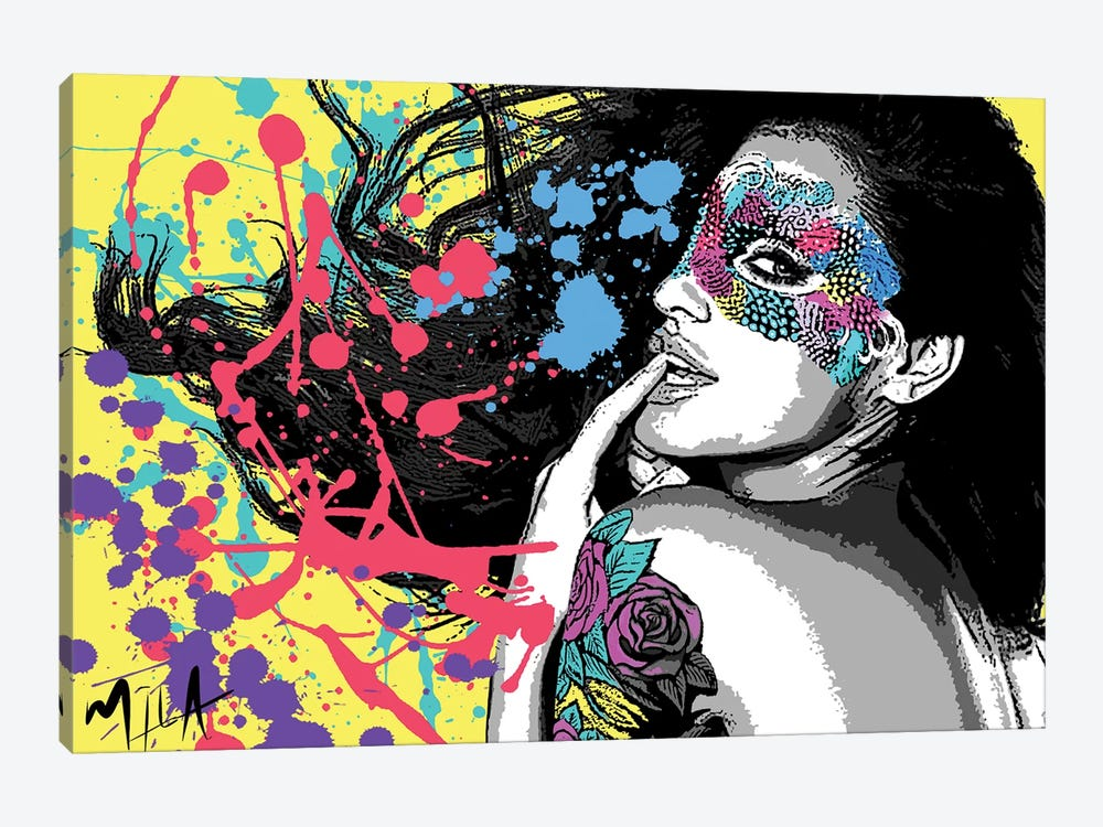 Masquerade by Julie Mila-Bouffard 1-piece Canvas Art Print