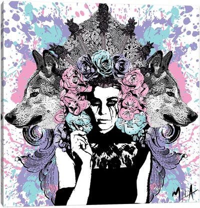 She Wolf Canvas Art Print