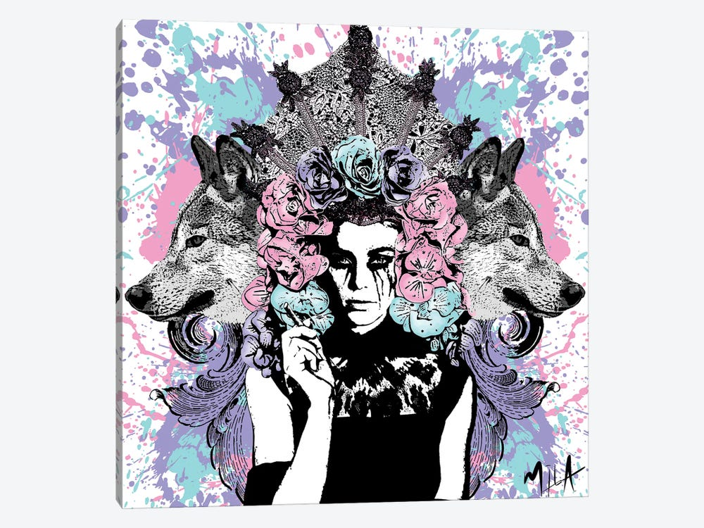 She Wolf by Julie-Mila Bouffard 1-piece Canvas Print