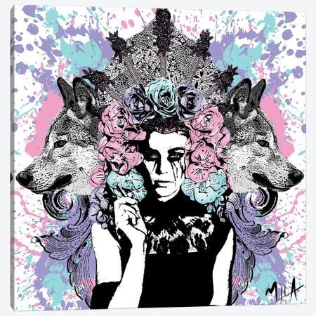 She Wolf Canvas Print #JMB22} by Julie Mila-Bouffard Canvas Print