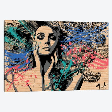 Superficial, Wood Canvas Print #JMB24} by Julie Mila-Bouffard Canvas Artwork