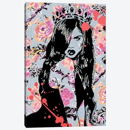 The Queen Canvas Print #JMB27} by Julie Mila-Bouffard Canvas Artwork