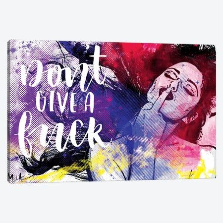 Don't Give A Fuck Canvas Print #JMB28} by Julie Mila-Bouffard Art Print