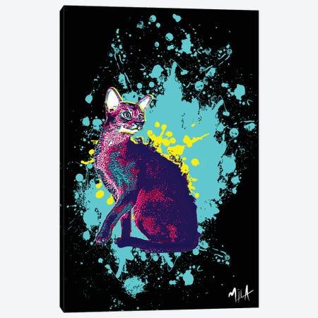 CrazyCat Canvas Print #JMB3} by Julie Mila-Bouffard Canvas Art