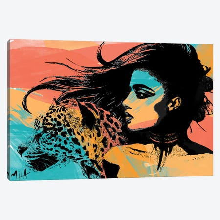 Spirit Animal Canvas Print #JMB6} by Julie Mila-Bouffard Art Print