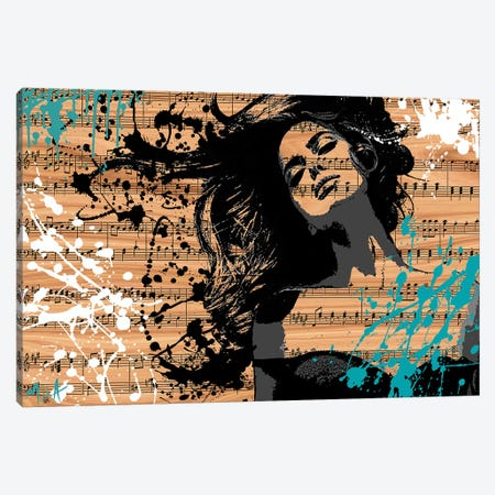 The Music In Me, Wood Canvas Print #JMB9} by Julie Mila-Bouffard Canvas Artwork