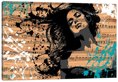The Music In Me, Wood Canvas Art Print