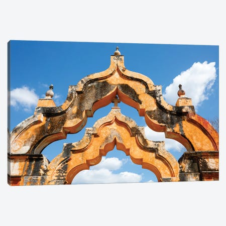 Yucatan, Mexico. Hacienda, 1 arch represented 1000 head of cattle, 2 arches represented 2000 head Canvas Print #JMC15} by Julien McRoberts Canvas Art