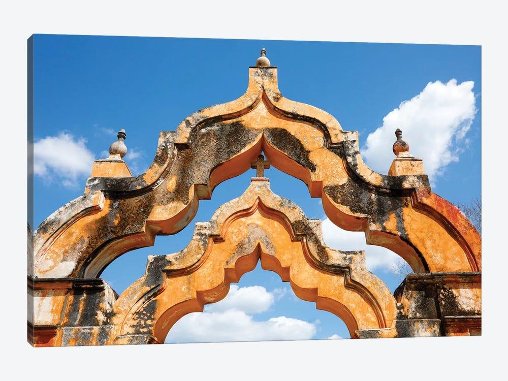 Yucatan, Mexico. Hacienda, 1 arch represented 1000 head of cattle, 2 arches represented 2000 head by Julien McRoberts 1-piece Canvas Artwork