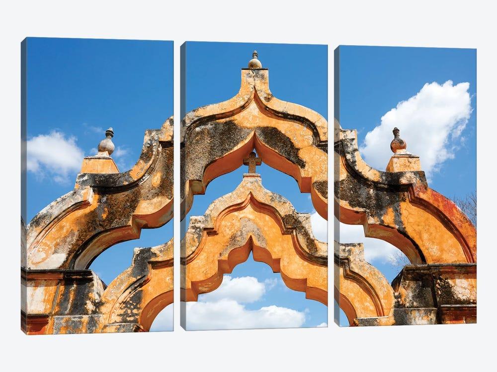 Yucatan, Mexico. Hacienda, 1 arch represented 1000 head of cattle, 2 arches represented 2000 head by Julien McRoberts 3-piece Canvas Artwork