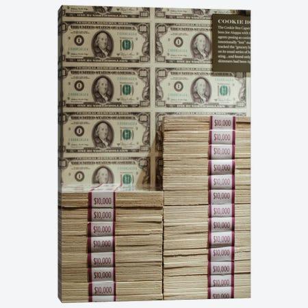 Prints of money at the Mob Museum, Las Vegas, Nevada. USA Canvas Print #JMC18} by Julien McRoberts Canvas Art Print
