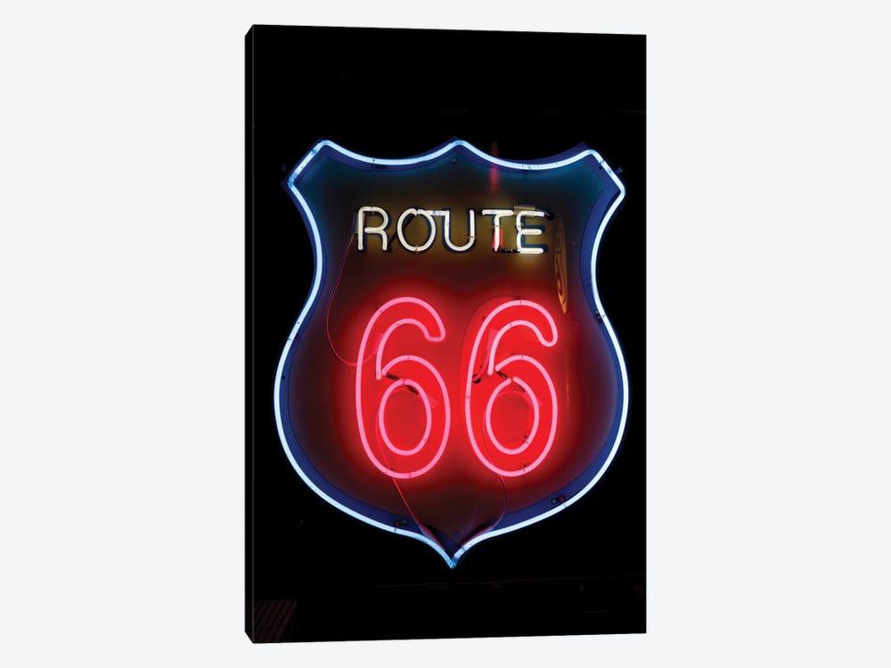 Neon U.S. Route 66 Sign, Albuquerque, New Mexico, USA by Julien McRoberts 1-piece Canvas Art Print