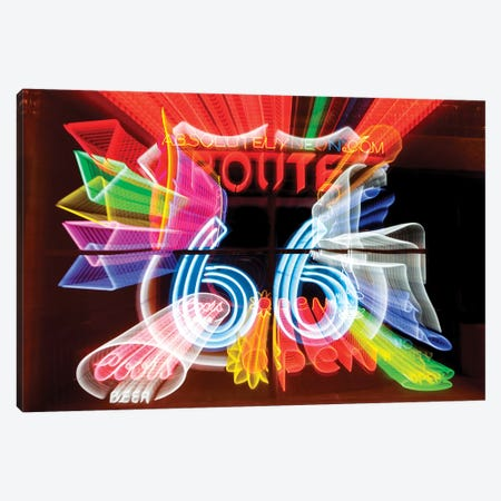 Neon Sign Window Display, Albuquerque, New Mexico, USA Canvas Print #JMC4} by Julien McRoberts Canvas Art