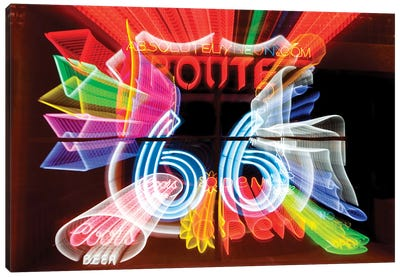 Neon Sign Window Display, Albuquerque, New Mexico, USA Canvas Art Print