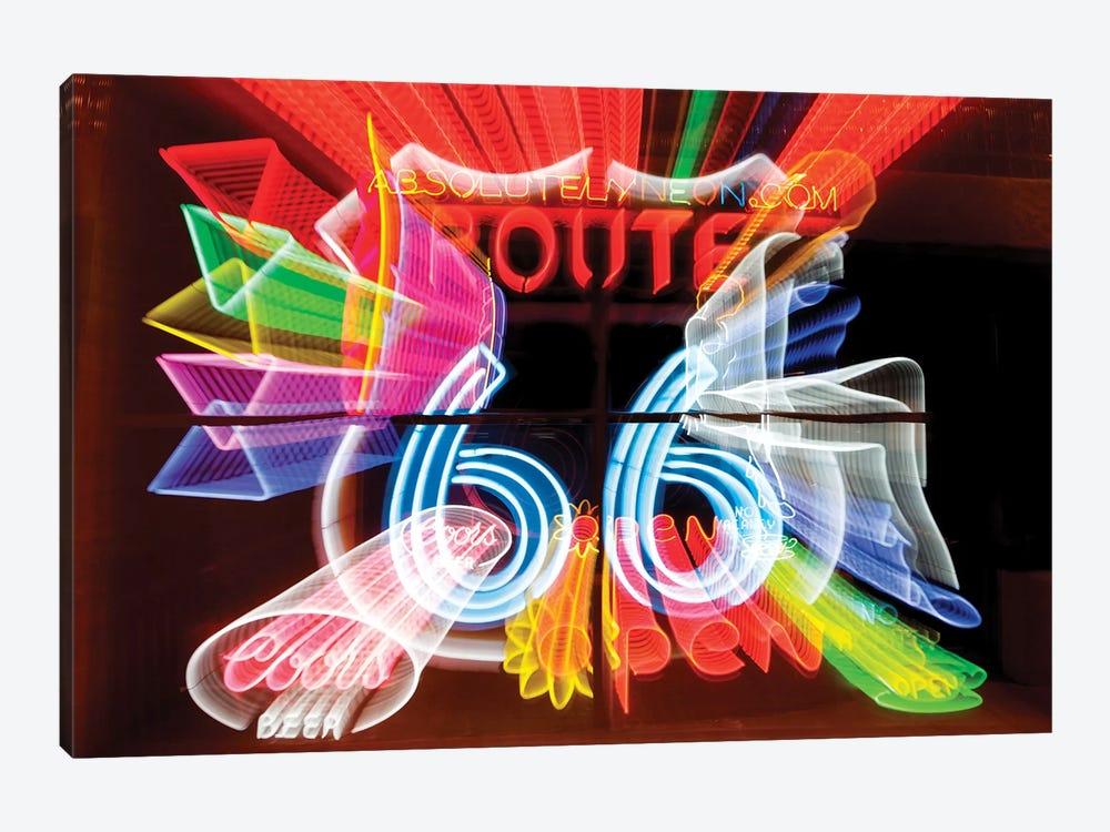 Neon Sign Window Display, Albuquerque, New Mexico, USA by Julien McRoberts 1-piece Canvas Art