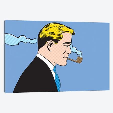 Man Smoking A Pipe Canvas Print #JMD13} by Joseph McDermott Canvas Artwork