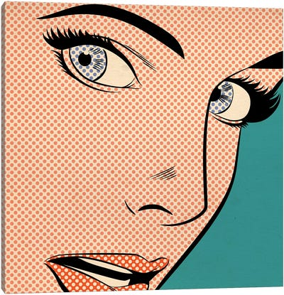 Popart Woman Canvas Art Print