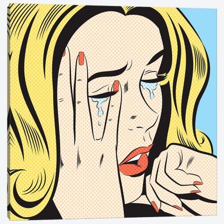 Crying Woman Canvas Print #JMD4} by Joseph McDermott Canvas Art Print
