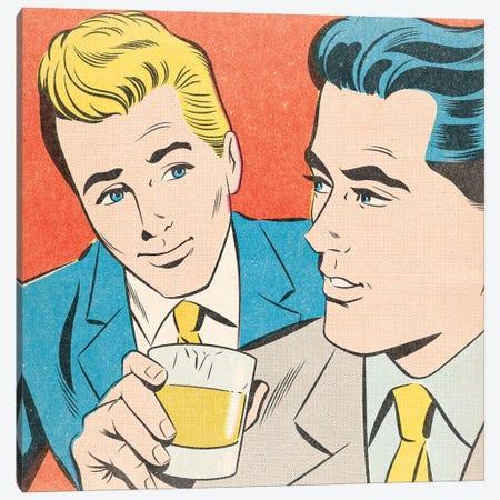 Flirt Canvas Print #JMD6} by Joseph McDermott Canvas Print