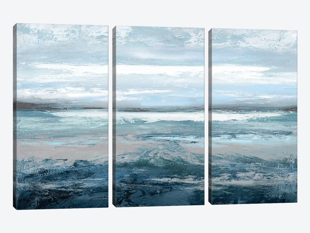 Aqua In Motion by Jake Messina 3-piece Canvas Art Print