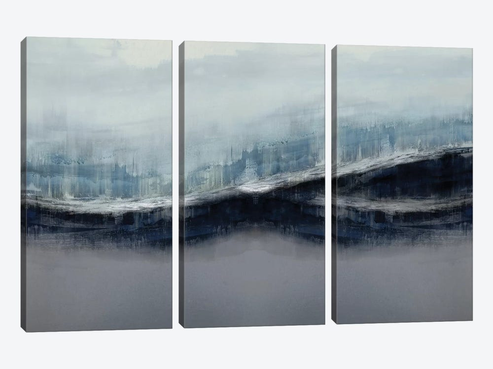 Ascending Gray by Jake Messina 3-piece Canvas Artwork