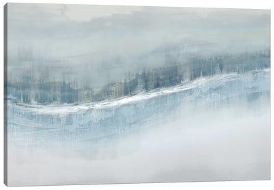 Flowing Aqua Canvas Art Print
