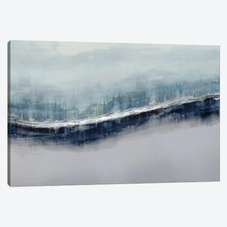 Flowing Gray Canvas Print #JME27} by Jake Messina Art Print