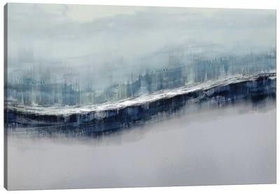 Flowing Gray Canvas Art Print