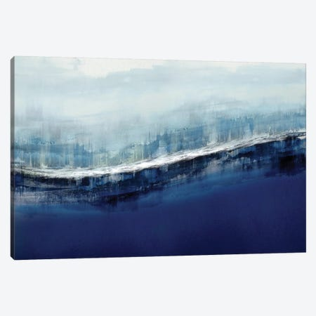 Flowing Indigo Canvas Print #JME28} by Jake Messina Canvas Art