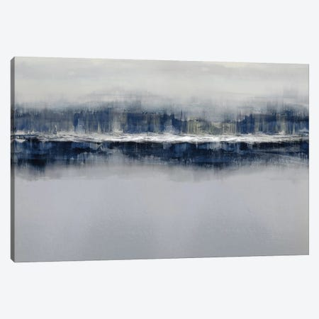 Indigo Shadows Canvas Print #JME35} by Jake Messina Canvas Artwork