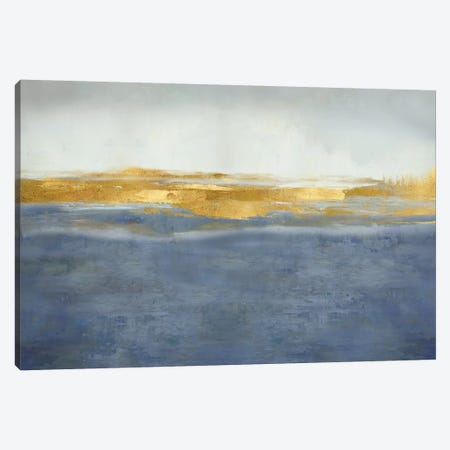 Linear Gold on Blue Canvas Print #JME39} by Jake Messina Art Print