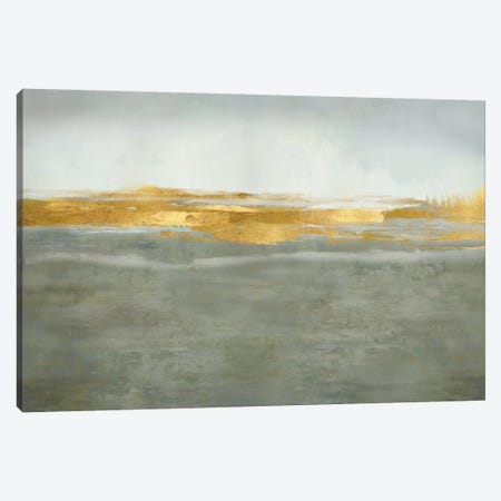Linear Gold on Gray Canvas Print #JME40} by Jake Messina Canvas Art