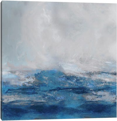 Terra in Blues Canvas Art Print