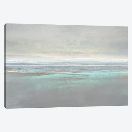 Aqua Reflection Canvas Print #JME49} by Jake Messina Canvas Artwork