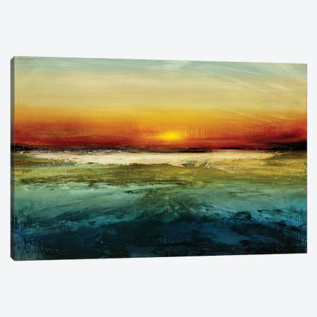 Setting Sun Canvas Print #JME9} by Jake Messina Art Print