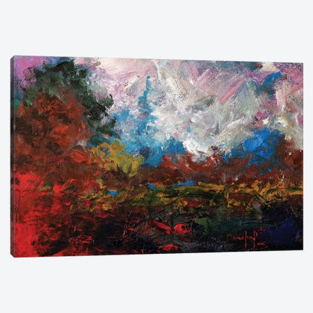 Burnt Orange Landscape Canvas Print #JMF11} by Joseph Marshal Foster Canvas Art